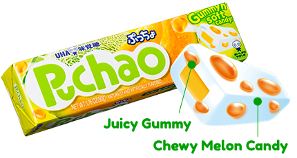 Puchao Stick - Juicy Gummy and Chewy Melon Candy