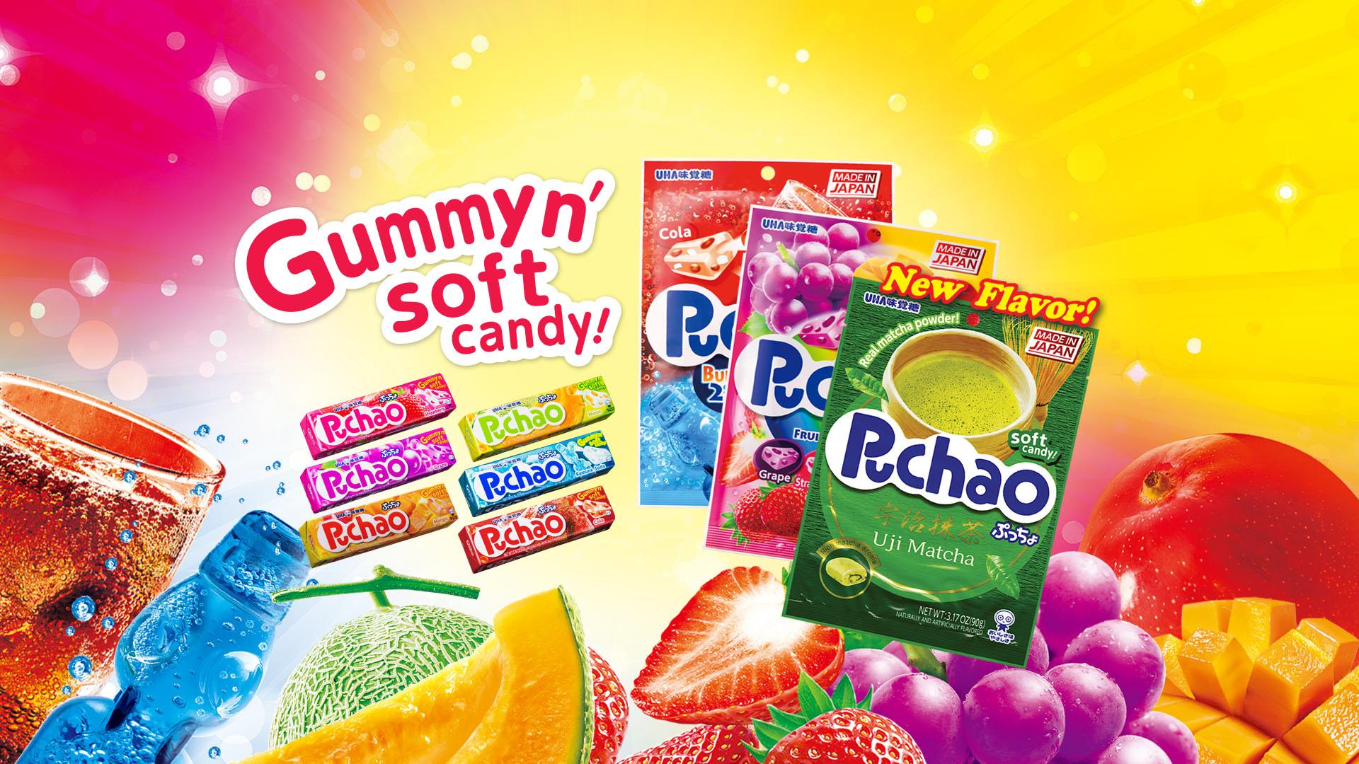 Puchao Gummyn' soft candy!
